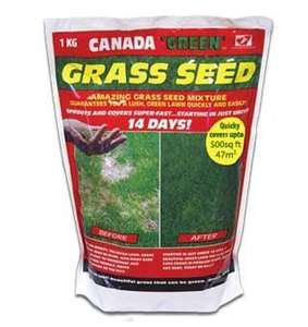 Canada Green Grass Seed 1KG. Coverage upto 47 Sq Metres, £6.99 delivered @ Argos