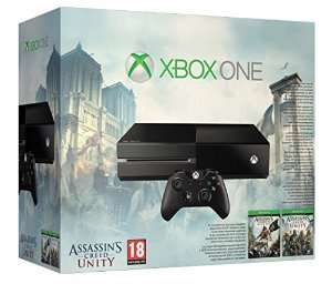 Xbox One Console with Assassin's Creed Unity & Black Flag (with 360, PS3 trade in) £188 @ Amazon