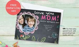 Personalised 7x5 Mother's Day card just 99p delivered!! @ truprints