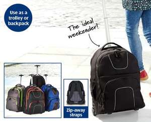 Trolley Backpack @ 19.99 in Aldi from 12-march