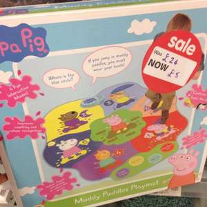 Peppa Pig Muddy Puddle Play Mat £5 @ Asda in store