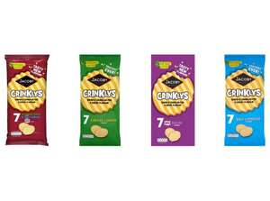 ** Jacobs Oven Baked Crinklys 7 pack Cheese & Onion / Bacon / Salt & Vinegar / Variety now only £1 @ Tesco **