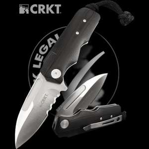 CRKT UK legal serrated pocket knife RRP £37 now £16.95 @ Heinnie Haynes