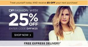 Free £5 voucher online if you order today @ Dorothy Perkins
