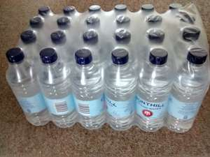 Iceland  in store 24 500ml bottles of Fonthill spring water £2.75