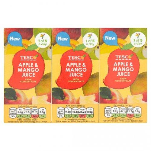 Tesco Apple And Mango Juice 3 X 200Ml 30p @ Tesco Instore