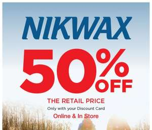 Half price Nikwax @ Go Outdoors e.g. Wash-in TX direct £7.50