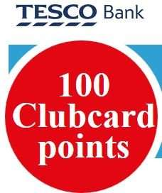 Free 100 Tesco Clubcard Points @ tescobank