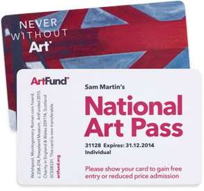 3 month art pass for £10 @ artfund