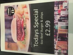 Burger and Chips £2.99 @ Wetherspoon