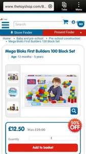 My first mega blocks First Builder, baby / todler toys £12.50 in The Entertainer