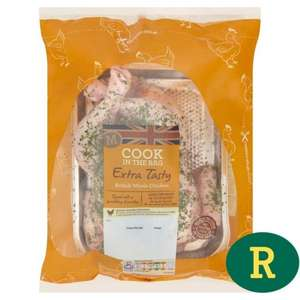 Morrisons Cook In The Bag Extra Tasty British Whole Chicken 1.4kg - Save 1/3 - Was £5.00, Now £3.33 @ Morrisons