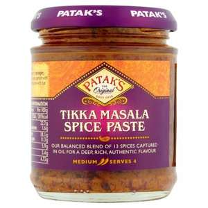 Pataks Tikka Masala Paste £0.62 @ CO-OP
