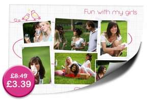 60% OFF a 12'' x 12'' Collage Poster Print £8.88 with P&P @ photobox