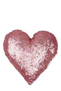 Pink sequin heart cushion from Next £4 reduced from £14, free collection from store
