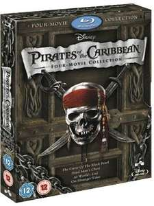 (Blu Ray) Pirates of the Caribbean 1-4 Boxset - £10.99 Delivered (Using Code) - Xtra Vision