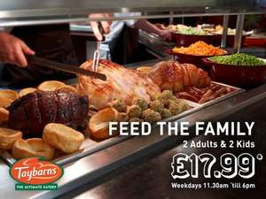 Family of 4 eats for £17.99 (eat as much as you like) @ Taybarns