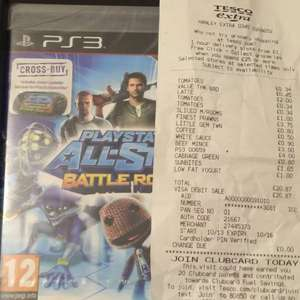 Playstation All-stars Battle Royale PS3 with PS Vita crossplay £4.00 @ Tesco in store