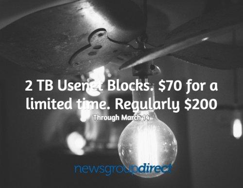 Newsgroup Direct - 2TB Usenet Blocks for £47.50