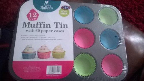 12 cup muffin tin £1.00 @ B&M