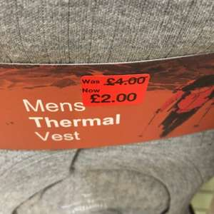Mens thermals for £2.00. Primark bradford