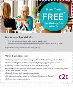c2c free travel for mums
