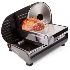 Andrew James Black Electric Precision Food Slicer 19cm Blade + Includes 2 Extra Blades For Bread and Meat £39.99 + £7.99 Del @ Amazon (Sold by Andrew James) - £47.98