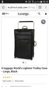 It World's lightest suitcase Large (black) £35 Asda