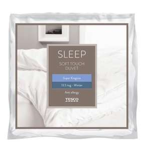 Anti allergy SUPERKING 13.5 tog soft touch duvet £13 at Tesco Direct