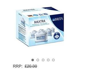 £11.96 BRITA Maxtra Water Filter Cartridges - 4 Pack @ Amazon