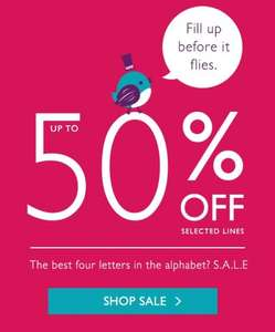 Oasis sale up to 50%