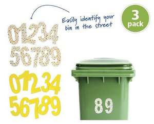Spring Facelift for your wheelie bin :)  Wheelie Bin Numbers @ Aldi from March 19th, 3-pack for 49p