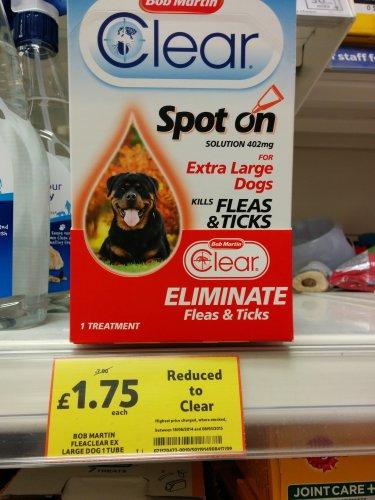 Bob martin Flea clear large dog 1 tube £1.75 @ Tesco instore