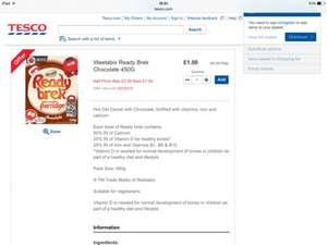 Chocolate Ready Brek 450g only £1 @ Tesco