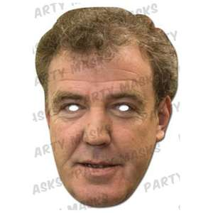 Jeremy Clarkson mask £1.82 with free P&P, was £3.99; on Amazon Marketplace