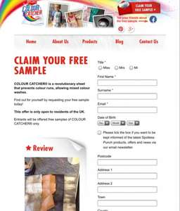 Free colour catcher sample!