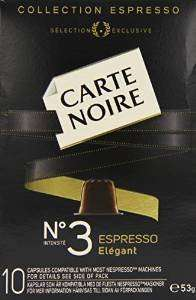 Carte Noire Espresso Number 3 Nespresso Coffee Pods - pack of 4 (40 capsules) £5.82 Amazon Add-on item