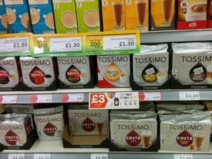 Various Tassimo drinks down to £3 in Morrisons