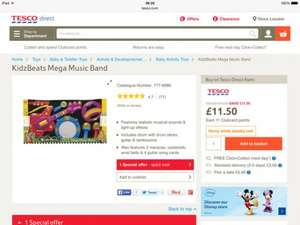 Kidz Beats mega music band only £11.50 @ Tesco Direct