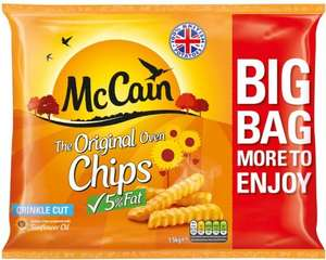 McCain Original 5% Fat Oven Chips - Crinkle Cut (1.5Kg) was £2.49 now 3 packs for £5.00 @ Morrisons