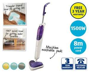 ALDI 1500W Steam Mop with 3 year free warranty for just £24.99 (in stores from 22 March)