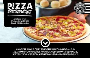 Pizza Express 2 for 1 Wednesdays