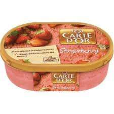 Carte d'or Strawberry, Toffee, Rum & Raisin 99p at Lidl
