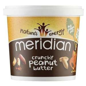 Meridian Crunchy Peanut Butter 1kg (Pack of 6) £24.76 Amazon