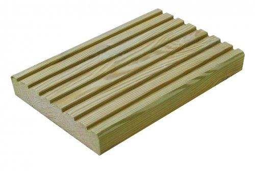 *Half Price* Premium Grooved Green Softwood Deck Board (W)144mm (T)28mm (L)3600mm & (L4800MM) £5 @ B&Q