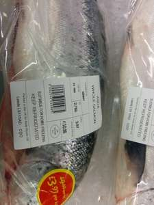 Salmon asda  £ 3.97 per kg only