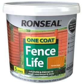 Ronseal one coat fence paint 5L various colours £5.00 @ B&Q