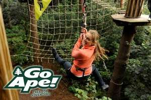 2 x Adults Go Ape entry for £33.95 (£16.98 each) or 3 for £59.95 (New customer code)@ Very and Go Ape