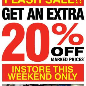 Direct golf 20% off weekend in store only