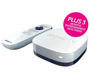 now tv box with 3 months entertainment pass for £14.99 at Currys & PC World